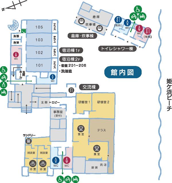 「ほしふるテラス姫ケ浜」案内図